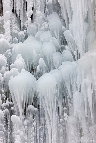Ice Formations, Horsetail Falls, Columbia River Gorge, Oregon