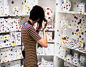 The Obliteration Room, 2002-present, Yayoi Kusama exhibit at the Hirshhorn Museum Washington DC 2017