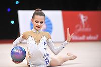 "February 9, 2014 - Tartu, Estonia - ALEKSANDRA EVDOKIMOVA (2001 junior) of Russia performs at ""Miss Valentine 2014"" international tournament."