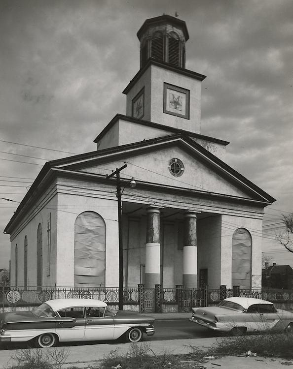 1962 March 02..Conservation.Downtown North (R-8)..Bank Street Baptist Church.501 Bank Street..HAYCOX - R. V. Fishbeck.NEG# C62-98-16.NRHA# 965..