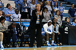 21 March 2015: UNC head coach Sylvia Hatchell. The University of North Carolina Tar Heels hosted the Liberty University Flames at Carmichael Arena in Chapel Hill, North Carolina in a 2014-15 NCAA Division I Women's Basketball Tournament first round game.