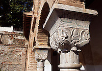 Detail of Capitals, The Generalife, 13th century, redecorated by the king Abu I-Walid Isma'il (1313-1324), The Alhambra, Granada, Andalusia, Spain. Picture by Manuel Cohen