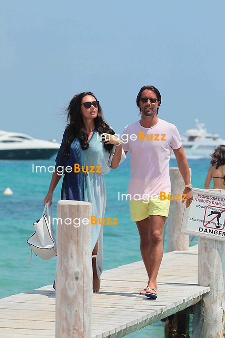 TAMARA ECCLESTONE & JAY RUTLAND ON HONEYMOON IN SAINT TROPEZ - June 14, 2013-Tamara Ecclestone and new husband Jay Ruttland enjoying their honeymoon at the Club 55  in Saint Tropez,