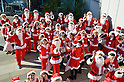 One hundred Santa's attend Christmas event in Tokyo