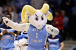 12 February 2015: UNC's mascot, Rameses. The University of North Carolina Tar Heels hosted the Florida State University Seminoles at Carmichael Arena in Chapel Hill, North Carolina in a 2014-15 NCAA Division I Women's Basketball game. UNC won the game 71-63.