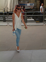Celebrity Spotting Radio 1 London. 15 July 2014