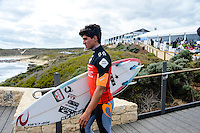 Margaret River, Western Australia. (Tuesday April 1, 2014) Gabriel Medina (BRA). –  The 2014 Drug Aware Margaret River Pro World Championship Tour event is about to kick off tomorrow and in preparation some of the worlds  best male and female surfers attended a press conference this morning at the contest site to promote the contest. Photo: joliphotos.com–  The 2014 Drug Aware Margaret River Pro World Championship Tour event kicked off today in solid 6' surf.  Round 1 was completed in good conditions with a couple of upsets with local surfer and injury wildcard Yadin Nichol (AUS) defeating kelly Slater (USA) and Joel Parkinson (AUS) loosing to Adam Melling (AUS).  Photo: joliphotos.com