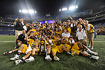 29 MAY 2011: Salisbury University poses with the trophy after the game against Tufts University during the Division III Men's Lacrosse Championship held at M+T Bank Stadium in Baltimore, MD.  Salisbury defeated Tufts 19-7 for the national title. Larry French/NCAA Photos