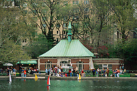 Central Park, New York City, New York, Manhattan, Conservatory Pond, Sailing pond, model sailing boats
