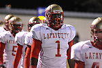 Lafayette High's Jeremy Liggins (1) vs. Senatobia High in Senatobia, Miss. on Friday, October 21, 2011. Lafayette High won.