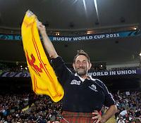 Rugby World Cup Auckland England v Scotland  Pool B 01/10/2011.Scotland fan celebrates Scotland taking the lead (Scotland)   .Photo  Frey Fotosports International/AMN Images