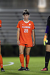 27 October 2016: Clemson's Emily Byorth. The Duke University Blue Devils hosted the Clemson University Tigers at Koskinen Stadium in Durham, North Carolina in a 2016 NCAA Division I Women's Soccer match. Clemson won the game 1-0.
