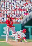 7 September 2014: Washington Nationals second baseman Asdrubal Cabrera in action against the Philadelphia Phillies at Nationals Park in Washington, DC. The Nationals defeated the Phillies 3-2 to salvage the final game of their 3-game series. Mandatory Credit: Ed Wolfstein Photo *** RAW (NEF) Image File Available ***
