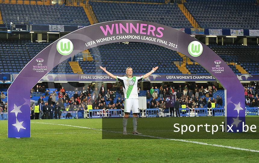 Wolfsburg - Olympique Lyonnais : Alexandra Popp celebrating her win <br /> foto Joke Vuylsteke / Nikonpro.be
