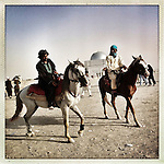** TO GO WITH AFGHANISTAN STORY FOR PETER MURTAGH - NO ARCHIVE, NO RESALE ** Horseriders are seen at King Zahir Shah's Tomb in Kabul, 24 August 2012. (John D McHugh)