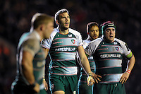 Tom Croft of Leicester Tigers looks on during a break in play. European Rugby Champions Cup match, between Leicester Tigers and Munster Rugby on December 20, 2015 at Welford Road in Leicester, England. Photo by: Patrick Khachfe / JMP