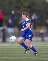 Hofstra University midfielder Tiffany Yovino (18) at midfield. Boston College defeated Hofstra University, 3-1, in second round NCAA tournament match at Newton Soccer Field, Newton, MA.