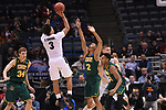 MILWAUKEE, WI - MARCH 16:  Purdue Boilermakers guard Carsen Edwards (3) shoots over Vermont Catamounts guard Trae Bell-Haynes (2) during the first half of the 2017 NCAA Men's Basketball Tournament held at BMO Harris Bradley Center on March 16, 2017 in Milwaukee, Wisconsin. (Photo by Jamie Schwaberow/NCAA Photos via Getty Images)