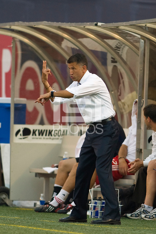New York Red Bulls head coach Juan Carlos Osorio. The New York Red Bulls defeated Toronto FC 2-0 during a Major League Soccer match at Giants Stadium in East Rutherford, NJ, on August 17, 2008.