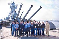 Docents on the Battleship New JerseyUSS New Jersey Battleship (BB62).Camden Waterfront, Delaware River, New Jersey
