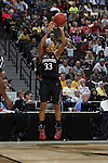 01 APRIL 2012:  Guard Amber Orrange of Stanford University (33) takes a shot against Baylor University during the Division I Women's Final Four semifinals at the Pepsi Center in Denver, CO.  Baylor defeated Stanford 59-47 to advance to the championship final.  Jamie Schwaberow/NCAA Photos