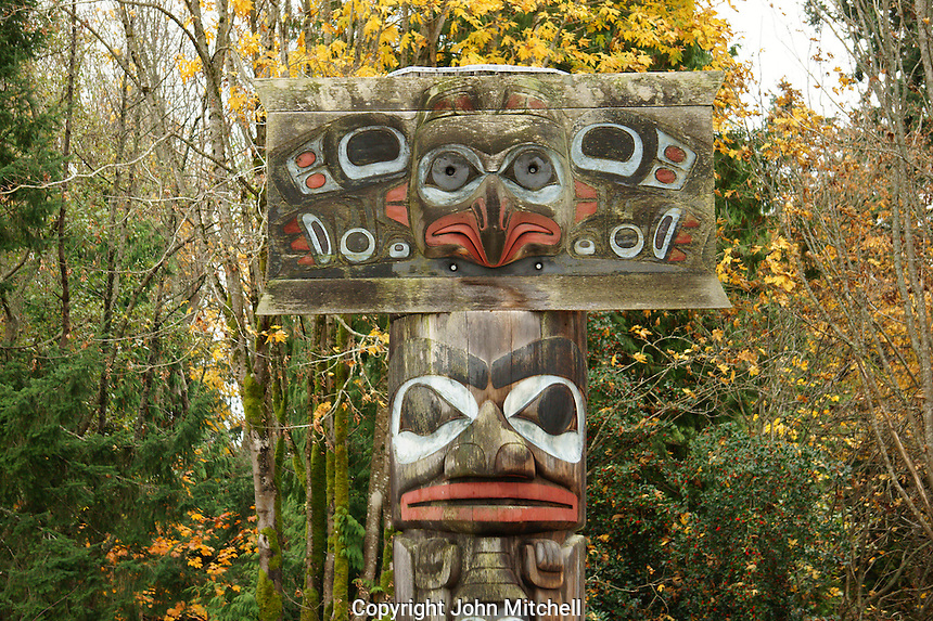 Haida mortuary pole, Museum of Anthropology (MOA), Vancouver, BC, Canada