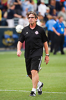 Toronto FC head coach Paul Mariner leaves the field after the match. The Philadelphia Union defeated Toronto FC 3-0 during a Major League Soccer (MLS) match at PPL Park in Chester, PA, on July 8, 2012.