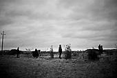 Swiebodzin 05.11.2010 Poland<br /> People observe as workers fit the arms to a giant statue of Jesus in Swiebodzin, 110 km (68 miles) west of Poznan, western Poland. A project conceived by local Catholic priest Sylwester Zawadzki and paid for by private donations, the statue of Jesus Christ, touted by its builders to be the largest in the world, will measure 33 metres and weigh 440 tonnes.<br /> Photo: Adam Lach / Newsweek Polska / Napo Images<br /> <br /> Ludzie ogladaja montaz ramion najwyzszego na swiecie posagu Jezusa Chrystusa w Swiebodzinie ufundowanego prze lokalnego ksiedza Sylwestra Zawadzkiego.<br /> Fot: Adam Lach / Newsweek Polska / Napo Images