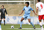 12 November 2008: UNC's Ryan Adeleye. The University of Maryland defeated the University of North Carolina 1-0 at Koka Booth Stadium at WakeMed Soccer Park in Cary, NC in a men's ACC tournament quarterfinal game.