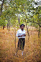 "15 year old Hellen Chola from Chalilo school in Sereje district, on her first safari in Kasanka National Park. ""A National Park is a place where trees and animals are protected. Even human beings are protected,"" Helen says. ""I have never seen a wild animal - only domesticated animals like cattle, pigs and goats..If National Parks weren't here, all the trees and animals would be devastated."" Local schools and women's groups are regularly brought into Kasanka, which is unique in the country and unusual in Africa as it is privately managed and owned by a trust. People are able to see animals flourishing in land which was once free reign for poachers. Combined with anti-poaching scouts, the education programme is on the frontline of conservation methods in the park, showing local people wild animals in their natural habitat."