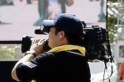 A cameraman filming a dance competition, in Nagoya, Japan.