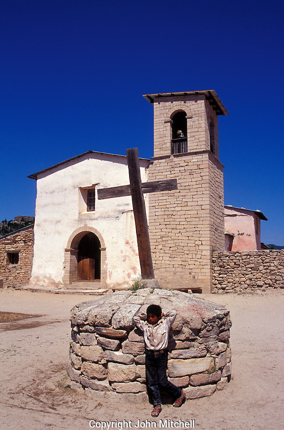 The Cusarare Mission in the Tarahumara village of Cusarare near Creel, Copper Canyon, Chihuahua, Mexico