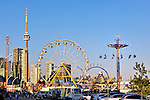 Amusement rides at the Exhibition Centre in Toronto Ontario Canada