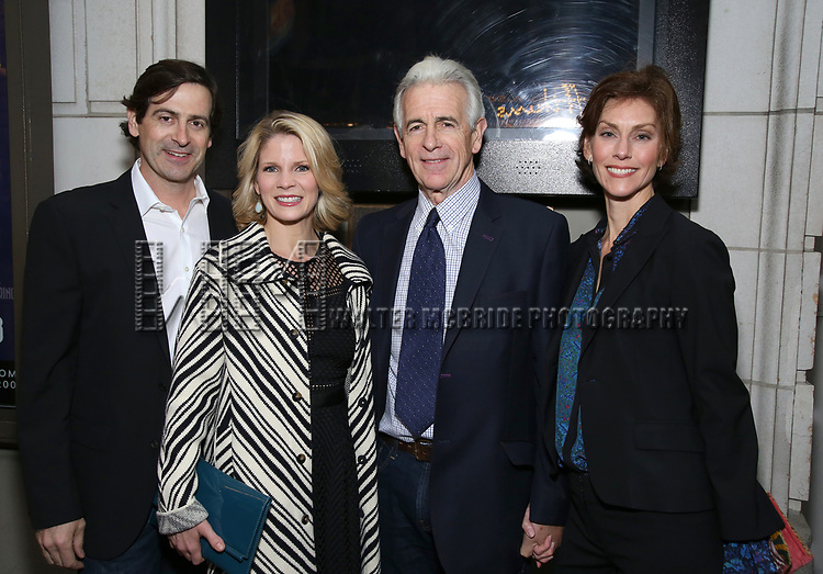 Greg Naughton, Kelli O'Hara, James Naughton and wife attends the Broadway Opening Night of 'Lillian Helman's The Little Foxes' at the  Samuel J. Friedman Theatre on April 19, 2017 in New York City