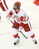 Sean Escobedo (BU - 21) - The Boston University Terriers defeated the visiting Providence College Friars 4-2 (EN) on Saturday, December 13, 2012, at Agganis Arena in Boston, Massachusetts.
