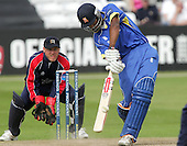 Varun Chopra in batting action for Essex watched by David Nash - Essex Eagles vs Middlesex Crusaders - Friends Provident Trophy at Ford County Ground, Chelmsford - 20/05/07 - MANDATORY CREDIT:  Gavin Ellis / TGSPHOTO - IMAGES USED WILL BE INVOICED AT STANDARD RATES
