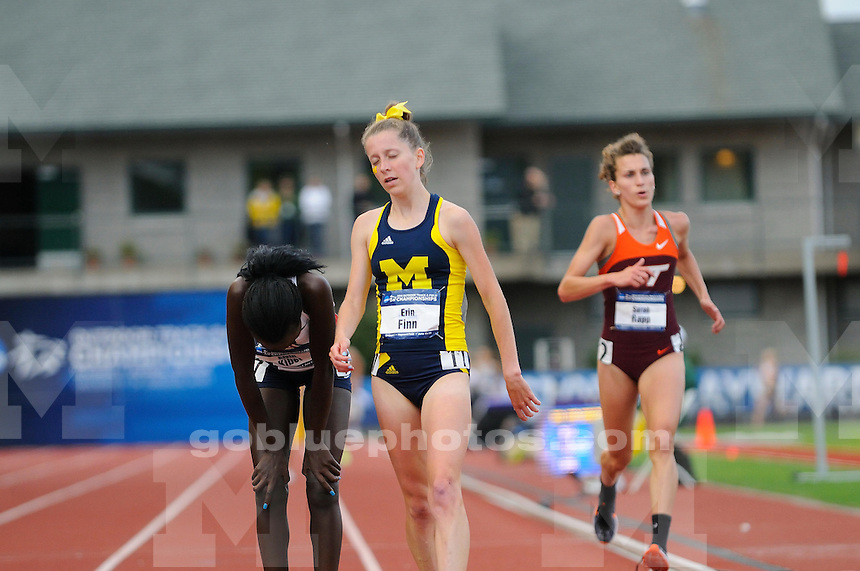 The University of Michigan Women's track and field team's compete on the second day of the 2014 Outdoor NCAA Track and Field Championships at Hayward Field. Eugene, OR. June 12, 2014