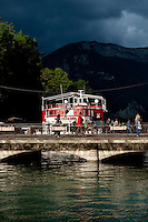 The Thiou canal in Annecy, capital of the Haute-Savoie department (France, 21/06/2010)