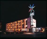 La Playa Motel, Virginia Beach VA. Huge Neon Sign. 1960's.