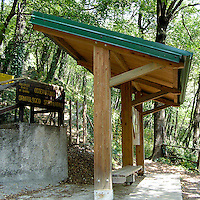 Ingresso dell'Osservatorio Ornitologico sul Monte Barro..Entrance of the Ornithological observatory of Monte Barro