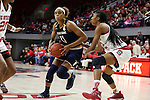 29 December 2016: Notre Dame's Brianna Turner (11) and NC State's Akela Maize (right). The North Carolina State University Wolfpack hosted the University of Notre Dame Fighting Irish at Reynolds Coliseum in Raleigh, North Carolina in a 2016-17 NCAA Division I Women's Basketball game. NC State won the game 70-62.