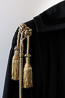 Toga di giustizia. Black gown of Justice...
