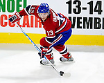 26 October 2009: Montreal Canadiens' left wing forward Mike Cammalleri in action during the first period against the New York Islanders at the Bell Centre in Montreal, Quebec, Canada. The Canadiens defeated the Islanders 3-2 in sudden death overtime for their 4th consecutive win. Mandatory Credit: Ed Wolfstein Photo