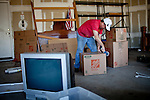Steve Reed packs up his belongings in the Weston Ranch neighborhood of Stockton, Calif., March 6, 2012. Reed's family business went under in 2010, after 40 years in operation. Unemployed for two years, he's moving to Riverside for a new job.