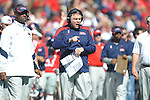 Ole Miss head coach Houston Nutt gives instructions vs. Arkansas at Vaught-Hemingway Stadium in Oxford, Miss. on Saturday, October 22, 2011. .