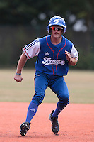 13 July 2010: Joris Bert of Team France runs the bases during day 1 of the Open de Rouen, an international tournament with Team France, Team Saint Martin, Team All Star Elite, at Stade Pierre Rolland, in Rouen, France.