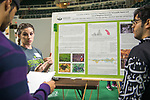 Devon Cottrill discusses her research at Ohio University's Student Research and Creative Activity Expo. Photo by Ben Siegel