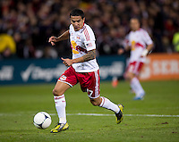 Tim Cahill (17) of New York Red Bulls brings the ball forward during the game at RFK Stadium in Washington DC. D.C. United tied New York Red Bulls, 1-1.