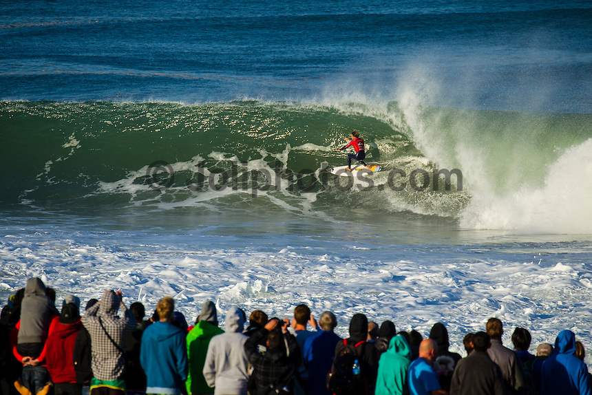 LA GRAVIERE, Hossegor/France (Friday, October 5, 2012) Dane Reynolds (USA). -  Kelly Slater (USA), 40, reigning 11-time ASP World Champion, claimed his 51st elite tour victory today, besting celebrated wildcard Dane Reynolds (USA), 27, in a hard-fought Final to take out the Quiksilver Pro France...Event No. 7 of 10 on the 2012 ASP WCT, the Quiksilver Pro France culminated in dramatic fashion this morning with the primary venue of La Graviere serving up clean three-to-five foot (1 - 1.5 metre) barrels for a star-studded Final Four...With conditions slowing, Slater wasted little time in the Final, collecting a 7.93 and a 9.33 in the opening 10 minutes for impressive tube rides on his forehand. While Reynolds would battle back with his own barrels and aerial attempts, it would not prove enough in the end allowing Slater to collect his first French victory in two decades...Today marks Slater's third win of the 2012 season (Fiji, Trestles, France) and vaults him up to 2nd on the ASP WCT rankings, well within striking distance of ASP World Title No. 12 with three events remaining this year..Reynolds was a standout from the opening round of the Quiksilver Pro France, consistently posting high scores and wowing the masses with his tube-riding prowess. Unfortunately for Reynolds, conditions did not cooperate in the Final against Slater.. Photo: joliphotos.com