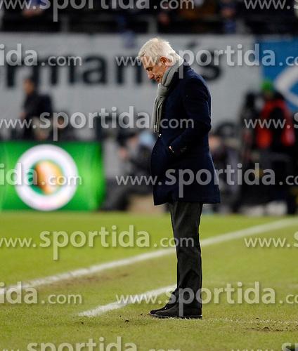 Football: Germany, DFB-Pokal, Hamburger SV - FC Bayern Muenchen, Muenchen, 12.02.2014<br /> coach Bert van Marwijk (Hamburg) <br /> &Atilde;'&Acirc;&copy;&Atilde;'&Acirc;&nbsp;pixathlon